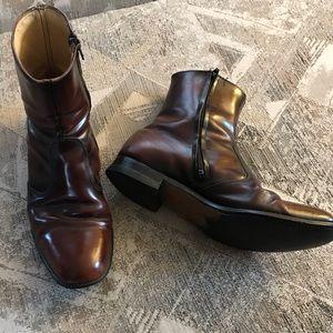 Vintage Leather Men's Chestnut Brown Ankle Boot
